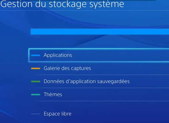 Stockage PS4